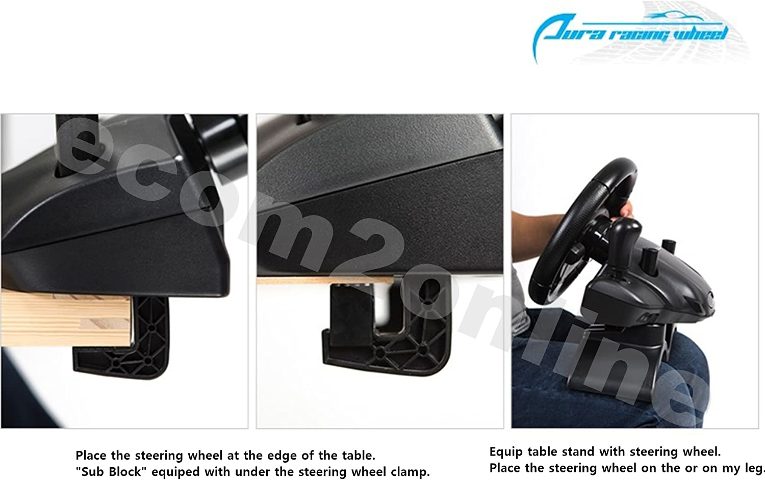 PC PS4 AURA Racing Wheel For PS3 XBOX360 XBOX ONE Video Game ...
