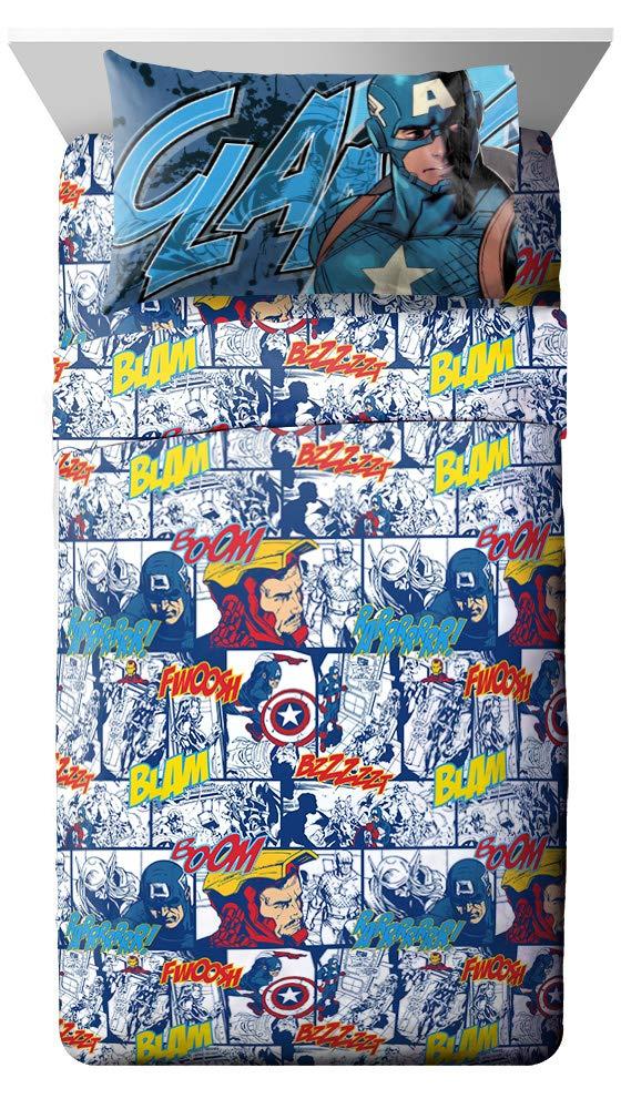 Jay Franco Marvel Avengers Publish 3 Piece Twin Sheet Set, by Jay Franco (Image #1)