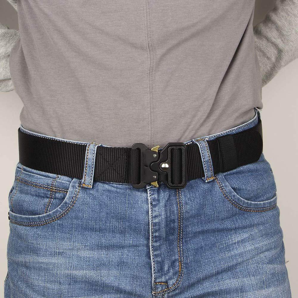 Cintur/ón T/áctico Militar Ajustable de Nylon con Hebilla de Liberaci/ón r/ápida para Entrenamiento Militar Caza,Camping y Otras Actividades al Aire Libre