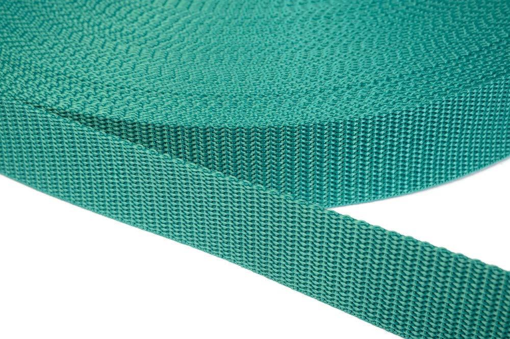 Weiss 6 Meter 1.2mm Stark in 41 Farben 01 Jajasio PP Gurtband 25mm breit aus Polypropylen