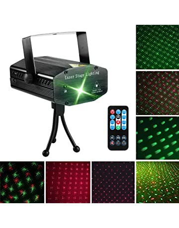 LED Laser Party Lights Projector Zacfton Led Stage Lights Mini Auto Flash RGB Sound Activated for