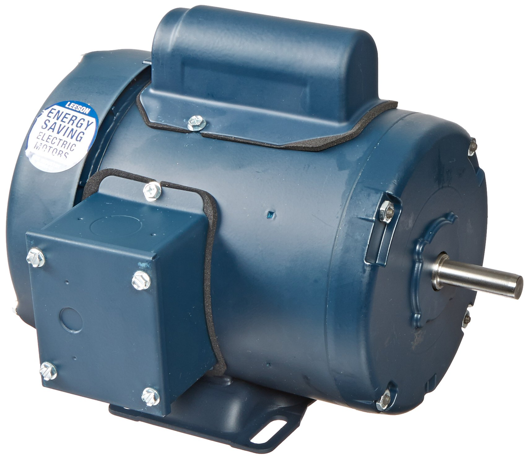 Leeson 102020.00 General Purpose TEFC Motor, 1 Phase, 48 Frame, Rigid Mounting, 1/2HP, 3600 RPM, 115/208-230V Voltage, 60Hz Fequency
