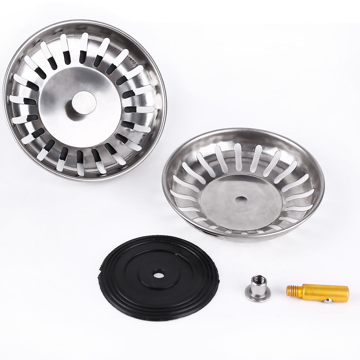 2Pcs 83mm326inch Stainless Steel Sink Strainers Kitchen