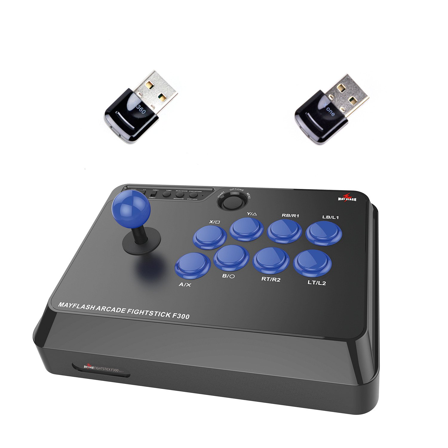 MAYFLASH F300 Arcade FightStick and MAGICBOOTS Bundle for Xbox 360/Xbox One
