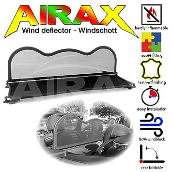 Airax Windschott f/ür Mini One Cooper F57 Cabrio Windabweiser Windscherm Windstop Wind deflector d/éflecteur de vent