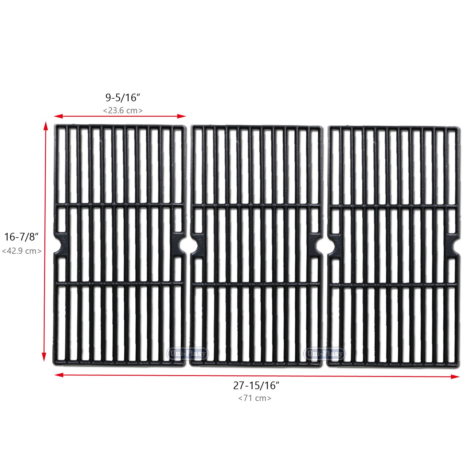 Cast Iron Grill Cooking Grid Grate Replacement Parts for Charbroil 463420508, 463420509, 463420511, 463436213, 463436214, 463436215, 463440109, 463441312, 463441514, 463461613, Thermos 461442114