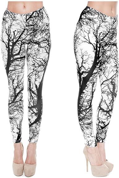 Funecke Damen Leggings Mit Muster Stretch Leggings