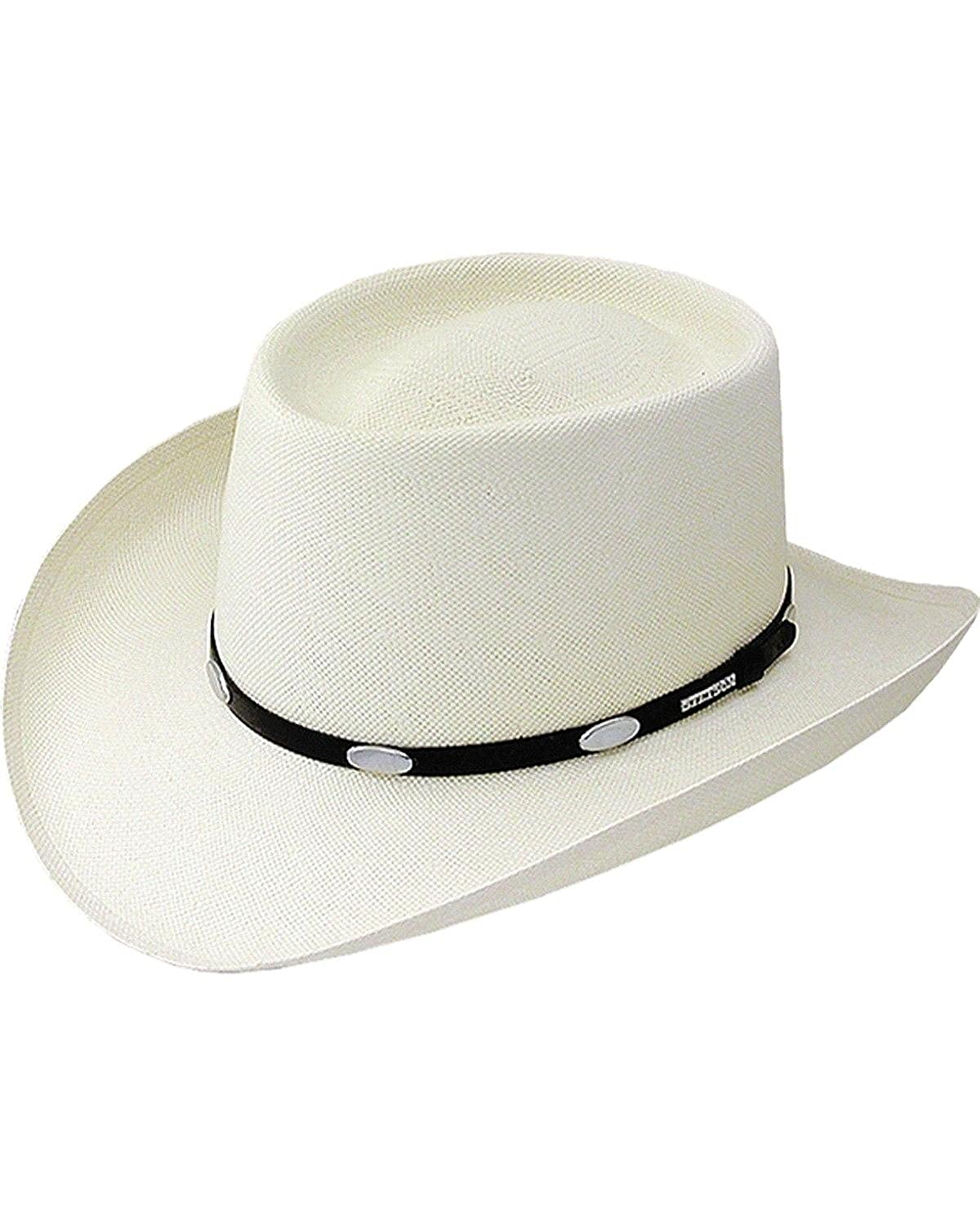 Stetson Men s Royal Flush 10X Shantung Straw Cowboy Hat at Amazon Men s  Clothing store  f7ebd9c28cf