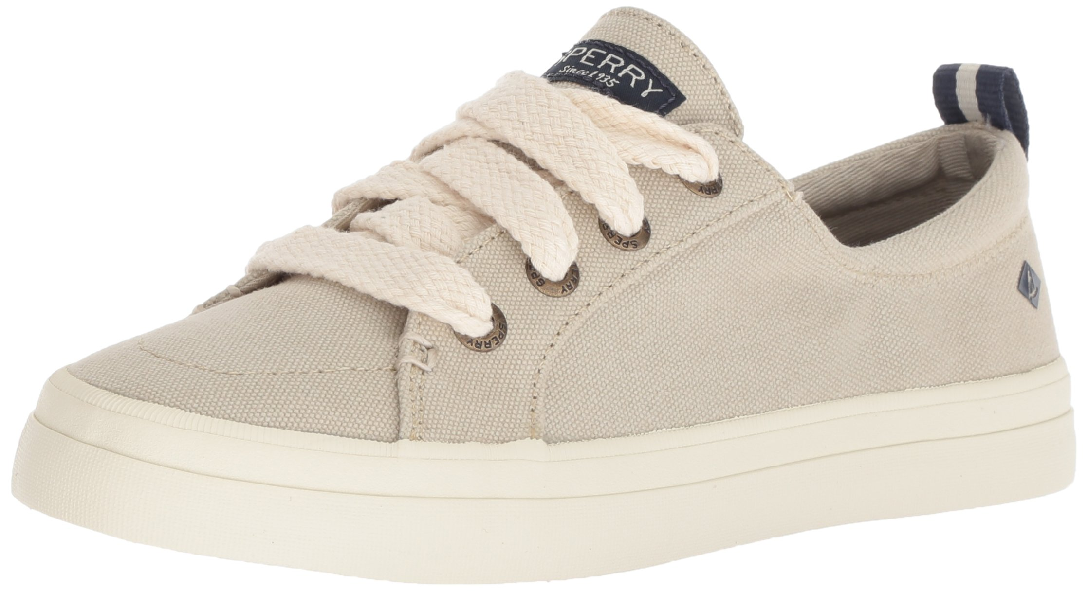 Sperry Top-Sider Women's Crest Vibe Chubby Lace Sneaker, Ivory, 8.5 M US