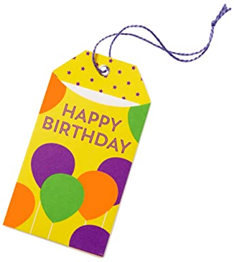 Amazonca 20 Gift Card In A Birthday Balloons Tag Cards