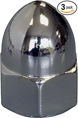 "U.S.A. 3//4""-10 Hard Chrome Plated Hex Steel Cap Nuts 2 Pcs."