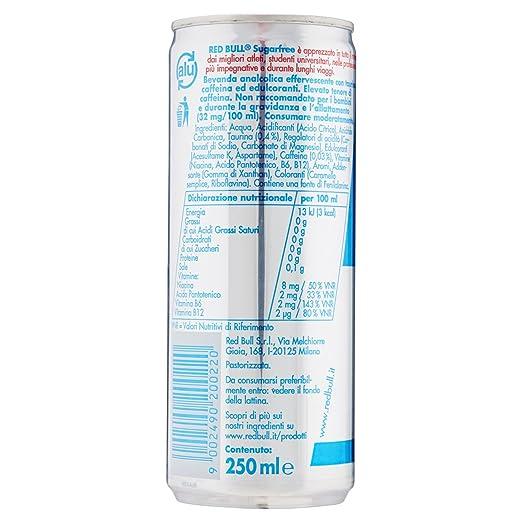 Red Bull Sugarfree Bevanda Energetica - 250 ml  Amazon.it  Amazon Pantry 0243b2e549a