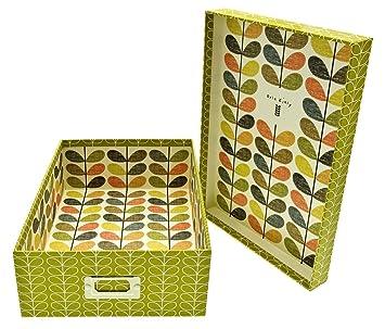 Orla Kiely Storage Box A4 Multi Scribble  sc 1 st  Amazon UK & Orla Kiely Storage Box A4 Multi Scribble: Amazon.co.uk: Office Products