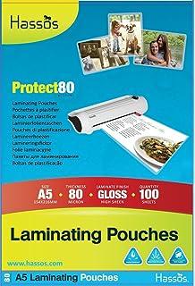 100 A5 Laminating Pouches 80 Micron (2 x 40 micron) Gloss Laminate Pouch