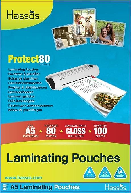 Amazon.com : 100 A5 Laminating Pouches 80 Micron (2 x 40 ...