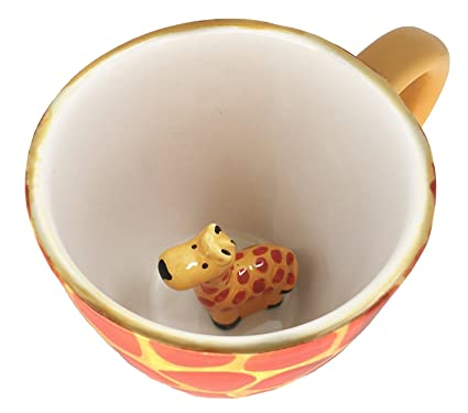 Amazon.com: Surprise Giraffe Coffee Cup Mug with Baby Giraffe Inside ...