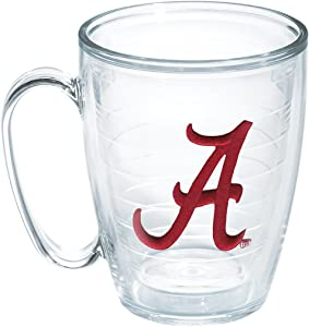 Tervis 1084192 Alabama University Text Emblem Individual Mug, 16 oz, Clear