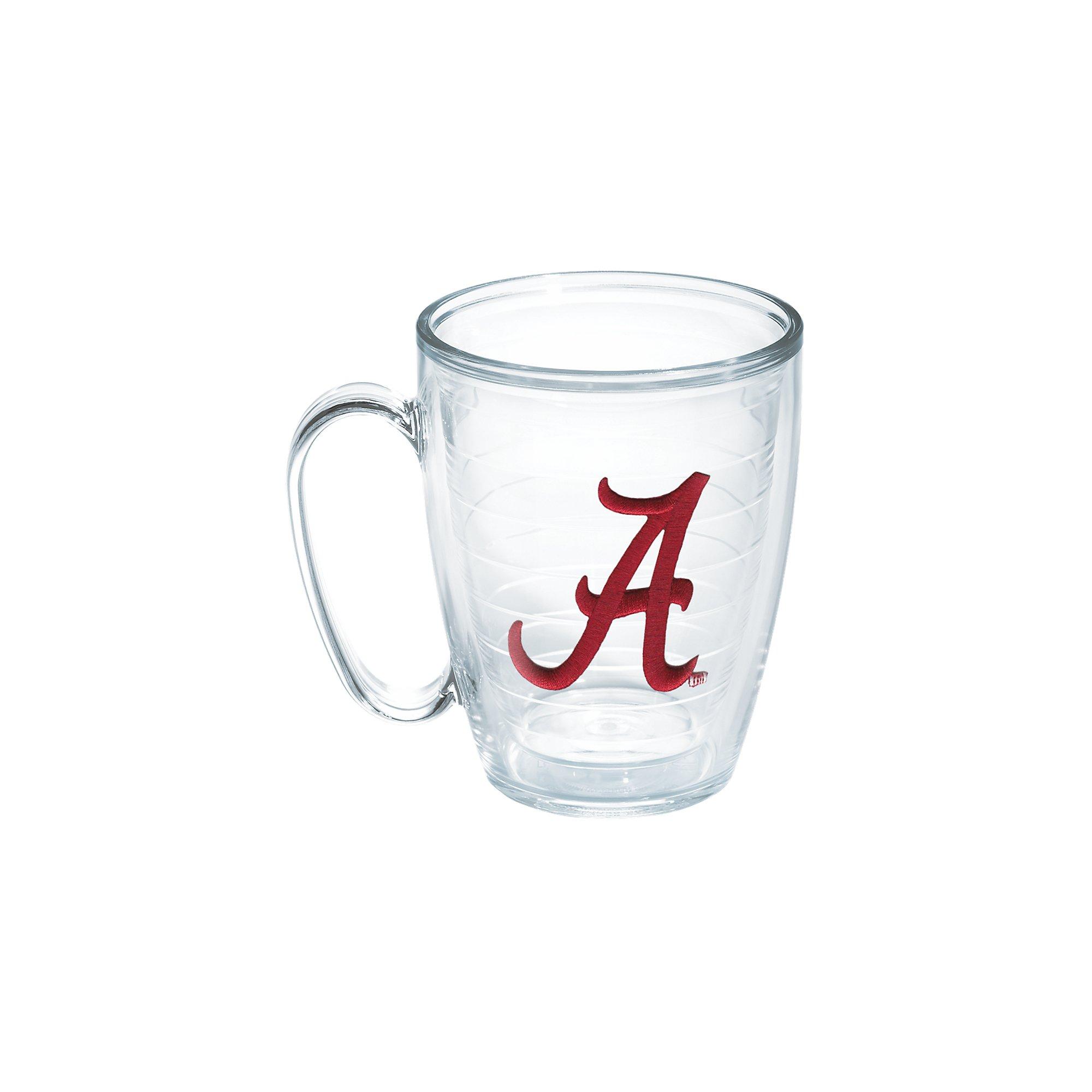 Tervis 1084192 Alabama University Text Emblem Individual Mug, 16 oz, Clear