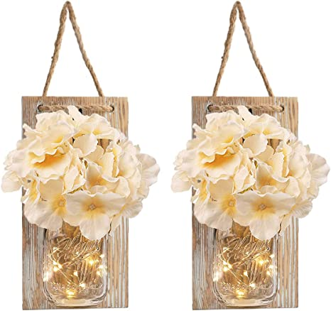 Handemade Fairy Light Hanging Mason Jar Sconce Priced Each Free Shipping