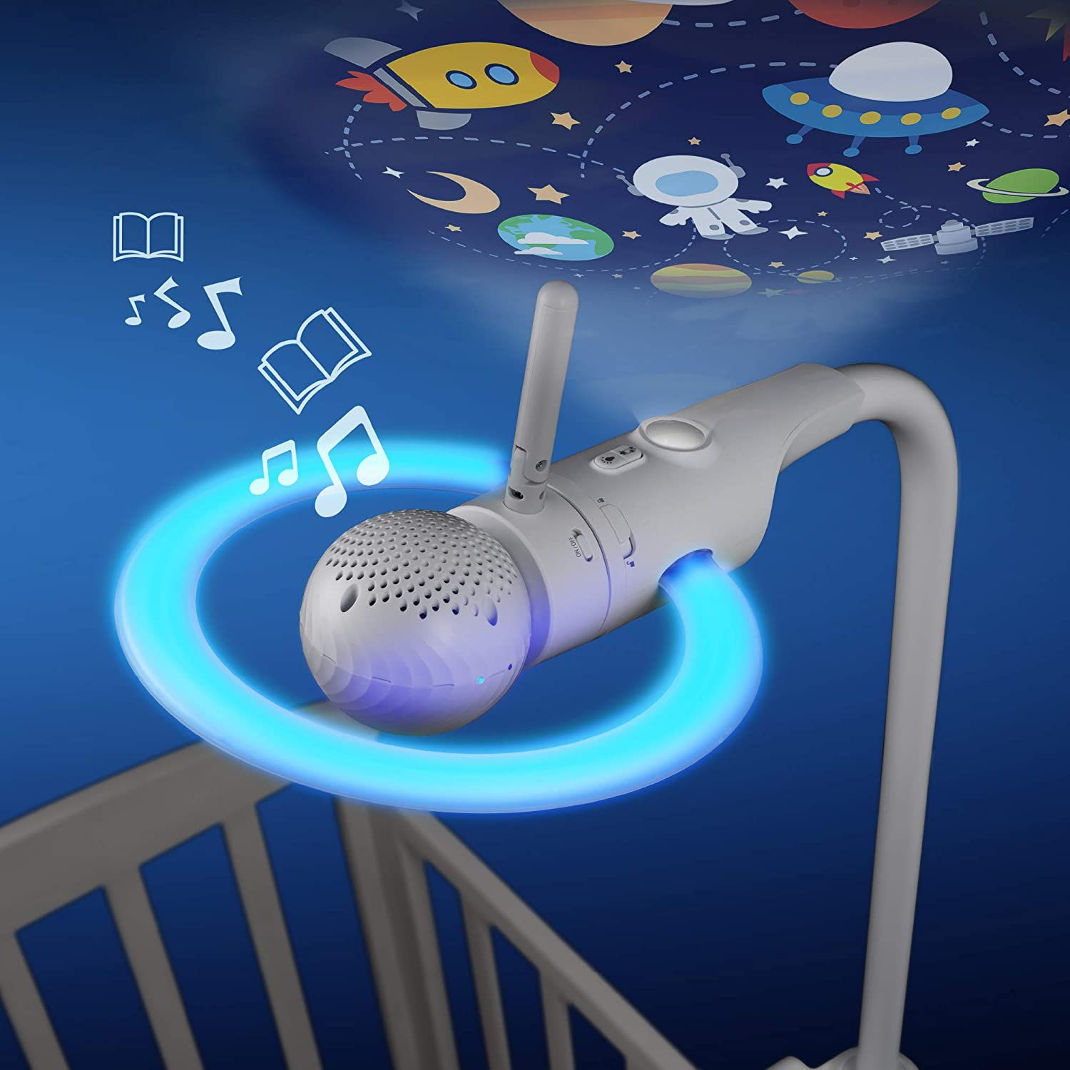 Amazon.com : Motorola Halo+ Over-The-Crib Baby Monitor & Soother with HD Wi-Fi Camera & Parent Unit : Baby
