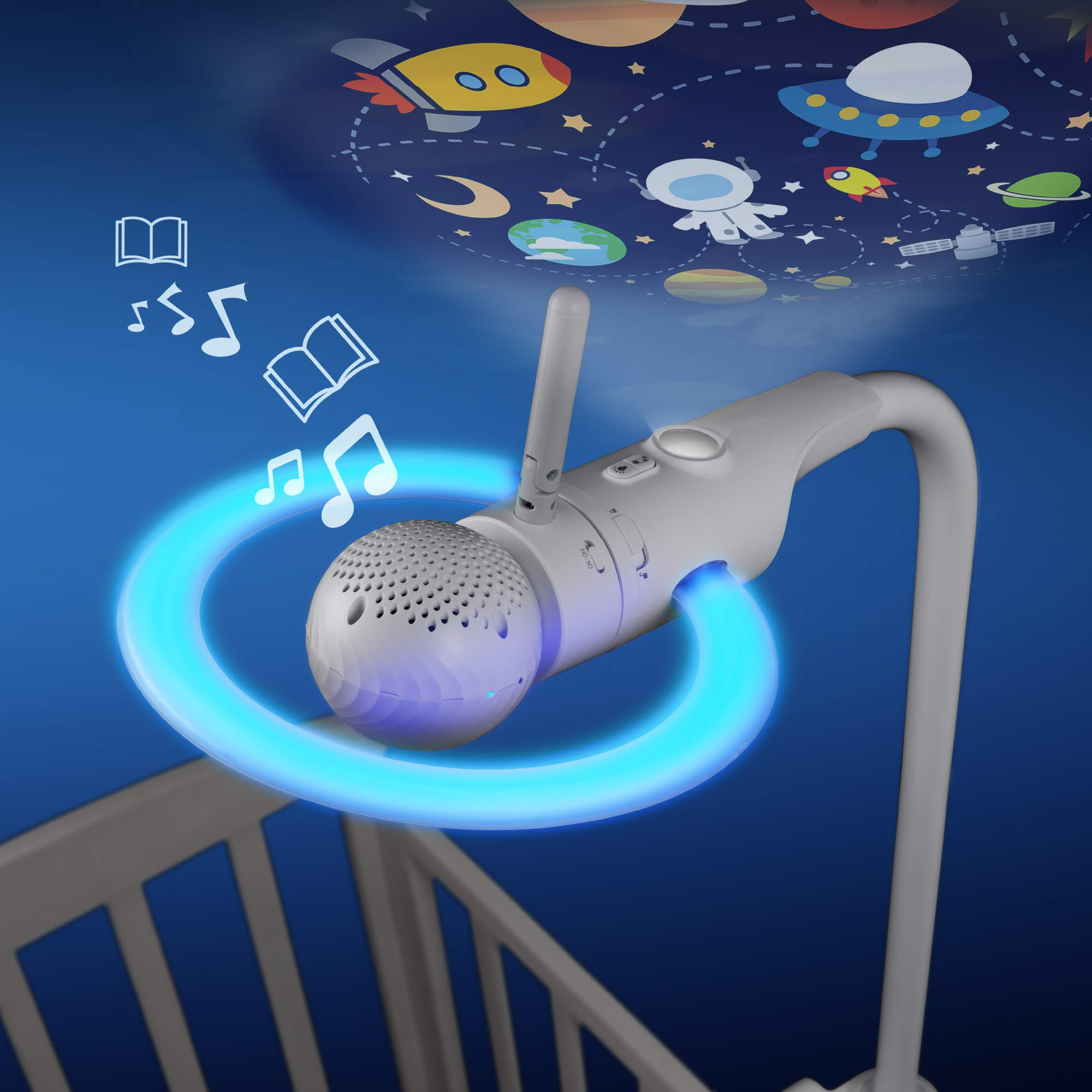 Motorola Halo Over-The-Crib Baby Monitor & Soother with HD Wi-Fi Camera by Motorola Baby (Image #4)
