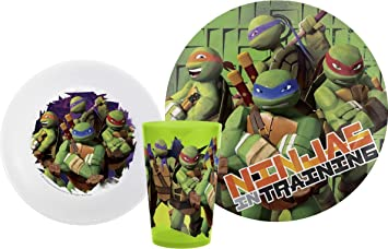 Zak Designs Teenage Mutant Ninja Turtle 3-Piece Dinnerware Set