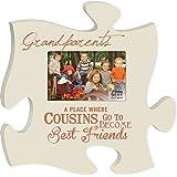Cousins Best Friends 4x6 Photo Frame Inspirational Puzzle Piece Wall Art Plaque