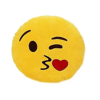 Tickles Kissing Sofa Smiley Emoticon Cushion Plush 33cm