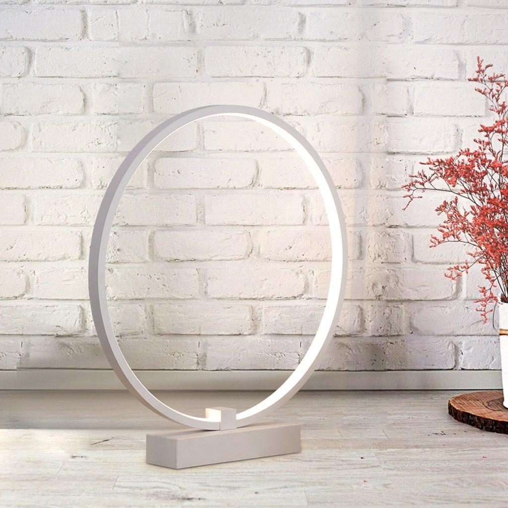 JIAHONG Led Tischlampe, Schlafzimmer Bedside kreative runde Form Tischlampe, hohe Lichtdurchlässigkeit Acryl Kunst Tischlampe (weiß, 360 ° Rotation) große Anzahl ( Farbe   Weiß light )