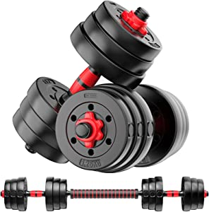 Weight Dumbbell Set Adjustable Dumbbells –Premium Dumbbell Barbell Combo For Fitness – Weight Set for Lifting at Home – Muscle Building Comfortable Grip Design-Easy to Use-Perfect for Gym,Lifting