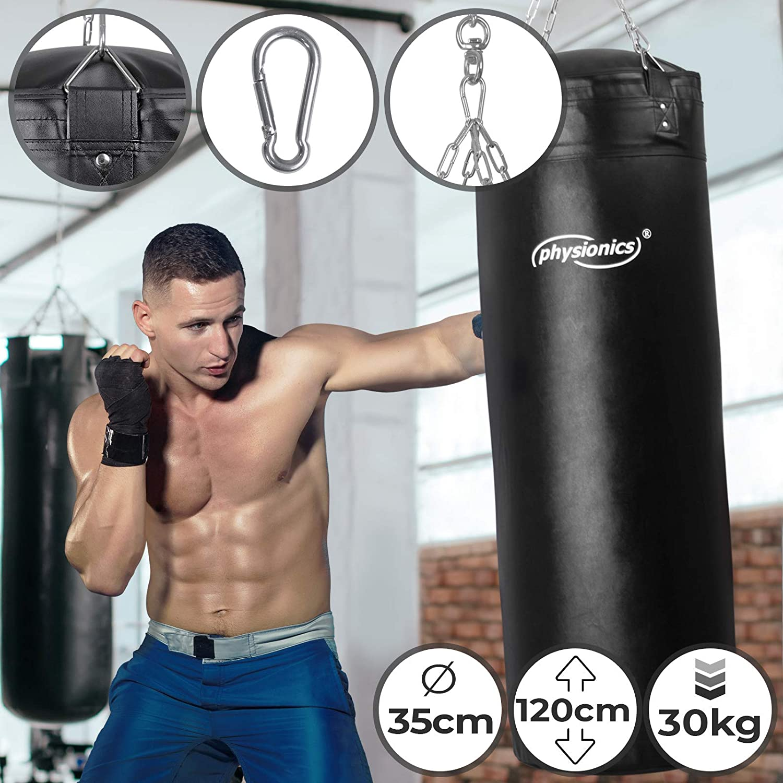 Sandbags Boxing Gloves Kicking Punching Bag Sparring Workout Exercise Chain Hook