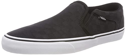 a347ea44cdef Vans Men s Asher Deluxe Slip On Trainers  Amazon.co.uk  Shoes   Bags