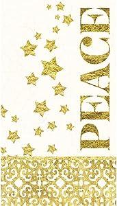 Cypress Home Starlit Winter Paper Guest Towel