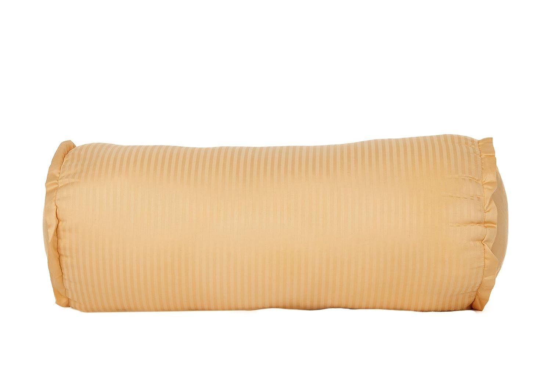 Devonshire Collection of Nottingham 540 Thread Count 100% Cotton Sorrento Stripe Neckroll Throw Pillow, White