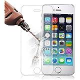 iPhone 5s Pellicola Protettiva, Ukelove® Pellicola Protettiva ultra resistente in vetro temperato con spessore di 0,3 mm ([1-pack]iPhone 5/5s/5c)