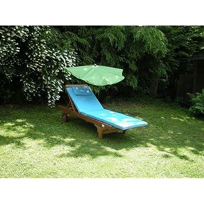 Chaise longue fächerschirm-sTABIELO exclusive fächerschirm holly'sun ® couleur: vert foncé-housse lavable amovible interchangeable-uV uPF 30 40 50 résistant aux intempéries, étanche,