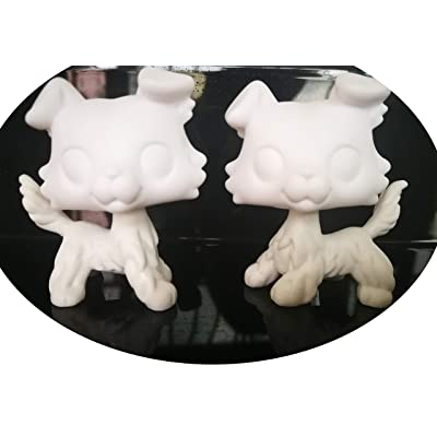 lpsloverqa Custom Made Collie Base Model Pure White Sample Dog Puppy can Draw Pattern by Yourself Action Figure Toy Kids Gift 2 PCS: Arts, Crafts & Sewing