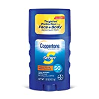 Coppertone SPORT Sunscreen Stick Broad Spectrum SPF 50 (1.5 Ounce) (Packaging may...