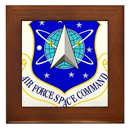 Amazon.com: CafePress - USAF Air Force Space Command Shield - Framed ...