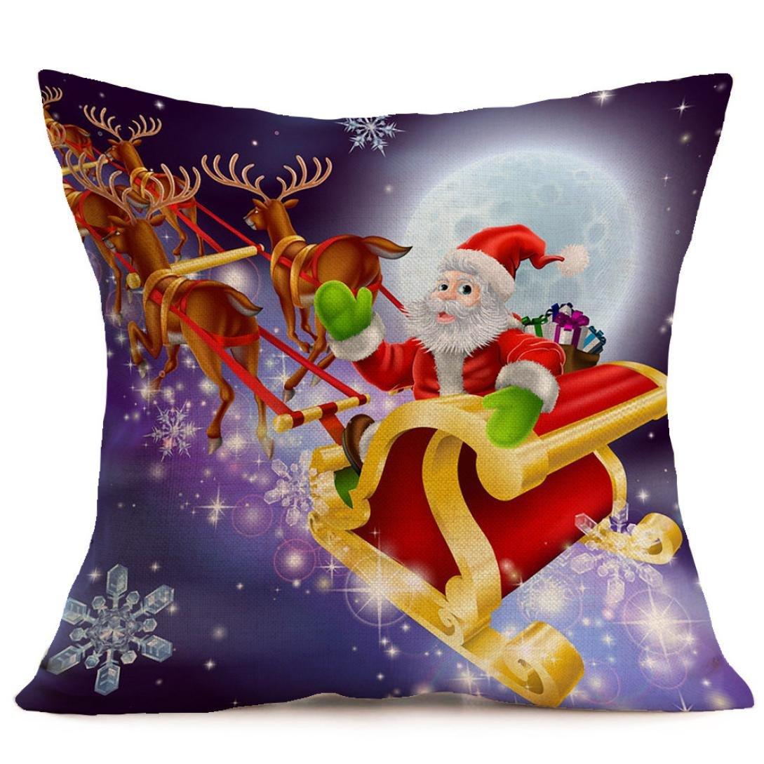 Subfamily federa cuscino, Buon Natale federa di Natale federa per cuscino da divano a vita casa arredamento 45_x_45_cm