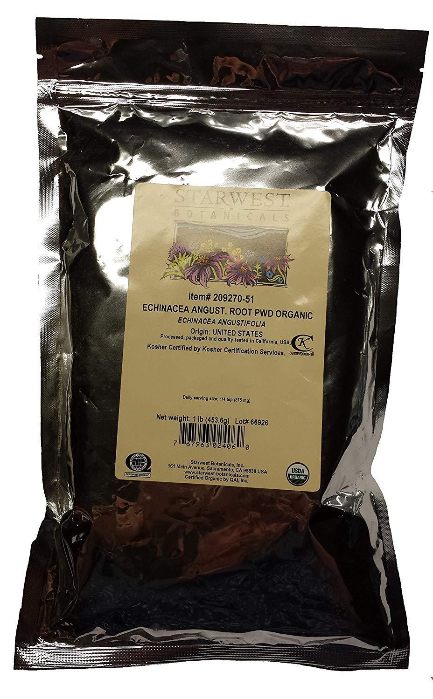 Organic Echinacea Angustifolia Root Powder 1 Lb 453 G – Starwest Botanicals
