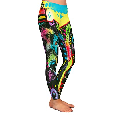 Athletic Yoga Leggings From DiaNoche by Dean Russo - Labrador Retriever Dog 21