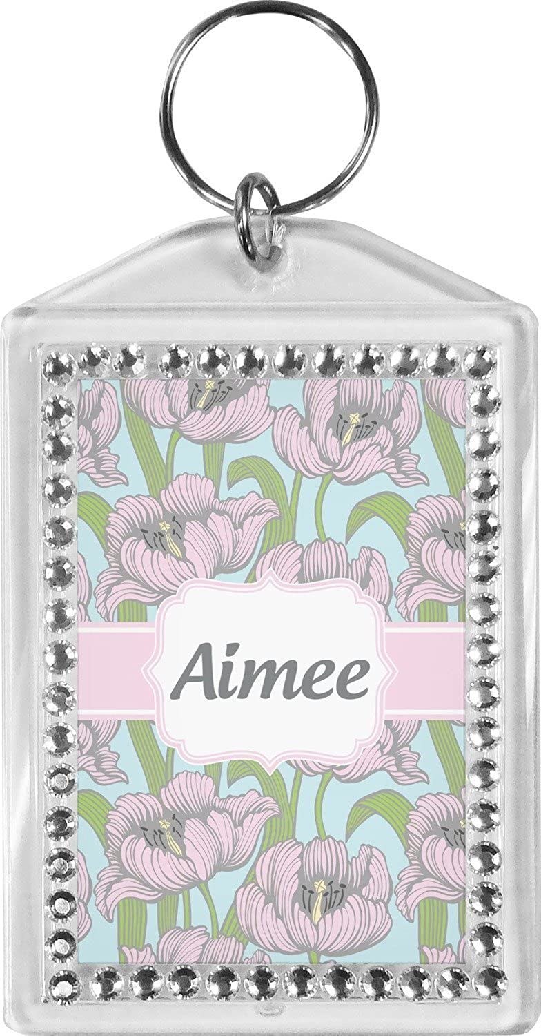 Wild Tulips Bling Keychain (Personalized)