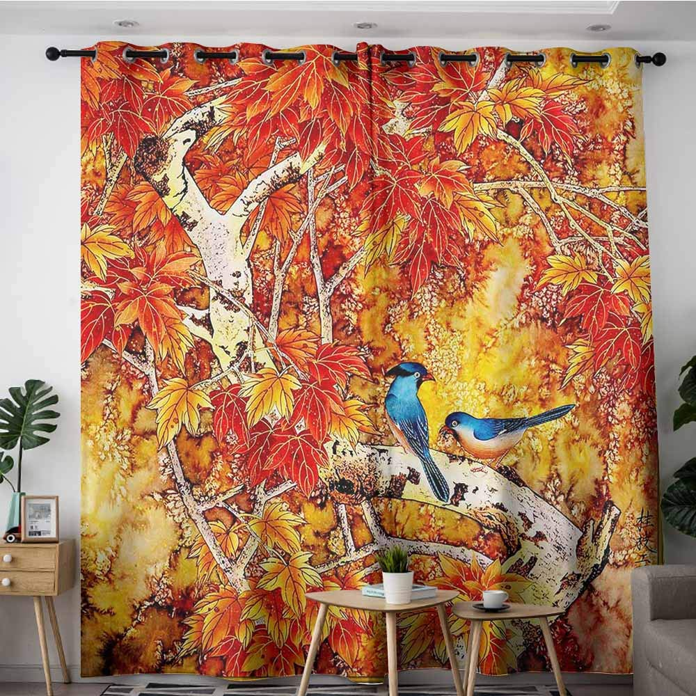 Amazon Com Loveeo Waterproof Window Curtains Art Grunge Floral