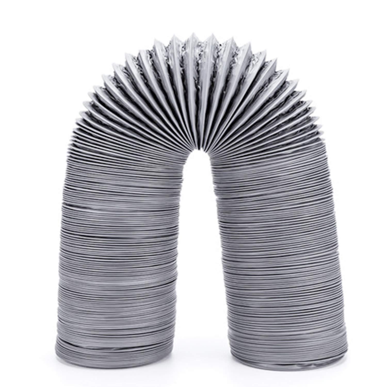 Secadora /ø100mm*5m, negro Climatizaci/ón Hon/&Guan Tubo de Manguera de Ventilaci/ón Tubo Aire Flexible di Aluminio /& PVC para Extractor de Aire