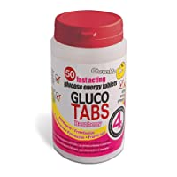 Gluco Tabs 50 Fast Acting Glucose Energy Tablets (50 4g Chewable Tablets Raspberry Flavour)