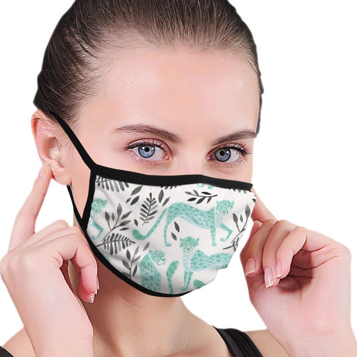 Cheetah Collection - Máscara facial para hombre y mujer, color menta y negro