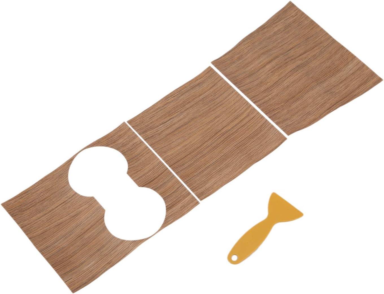 Monland Mittel Konsole Instrumenten Tafel Holz Maserung Aufkleber Dekoration Trim f/ür Tesla Model 3