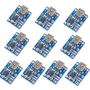 10x TP4056 5V Micro USB Li-ion Battery Charging Board Protection Charger Module