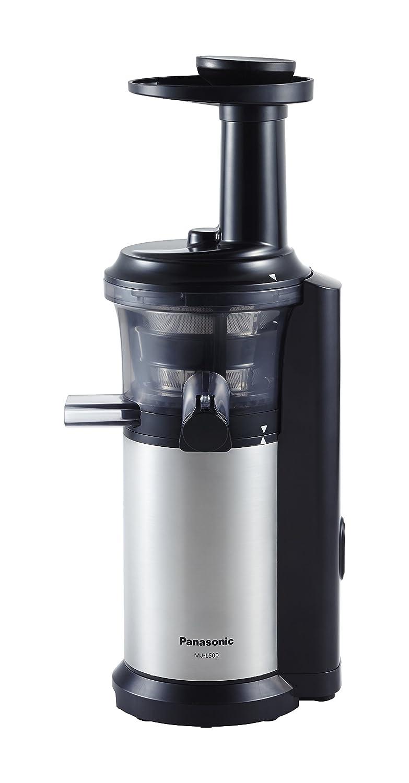 Panasonic MJ-L500 Slow Juicer with Frozen Treat Attachment Black//Silver